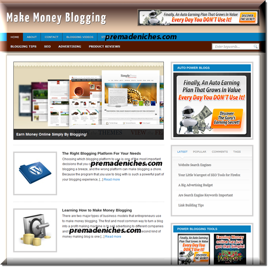 ready made blog about blogging