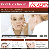 Botox Alternative PLR Site