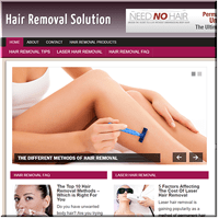 Hair Removal PLR Site