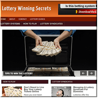 Lottery Secrets PLR Blog
