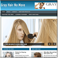 Gray Hair PLR Site