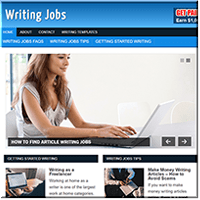 Writing Jobs PLR Website