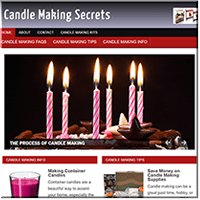Candle Making PLR Site