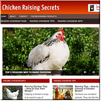 Chicken Raising PLR Site