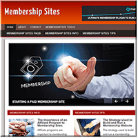 Memberships PLR Website