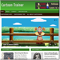 Cartooning PLR Website