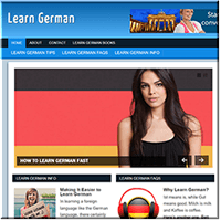 Learn German PLR Site