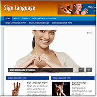 Sign Language PLR Site