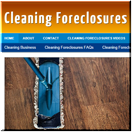 Cleaning Foreclosures