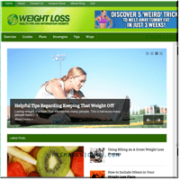 Weight Loss PLR Blog