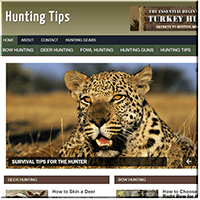 Hunting Tips PLR Website